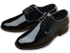 Jean Yves Genoa Black Patent Leather Shoes
