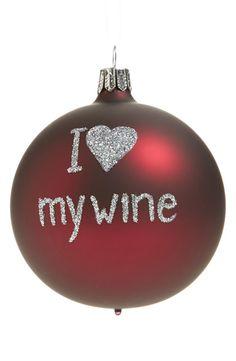 'I Love My Wine' Ornament