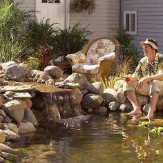 Pond: How to Build a Low-Maintenance Pond:    A little more building work means a LOT less maintenance and repair.      1.  Overview  2.  Choose a tough liner  3.  Protect the liner  4.  Pump and plumbing tips  5.  Keep runoff water out  6.  Make it easy to empty  7.  Use tough tubing