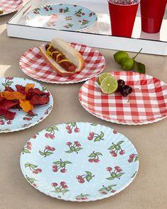 """Melamine """"Paper"""" Plates at Neiman Marcus."""