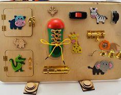 Busy board Activity board Montessori toys Wooden toys