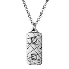 """Kalevala Koru / Kalevala Jewelry / K8SI -riipus / Selänne Pendant / has been designed in cooperation with Teemu Selänne, """"The Finnish Flash"""", a Finnish ice hockey winger legend and a Stanley Cup winner / Material: silver"""