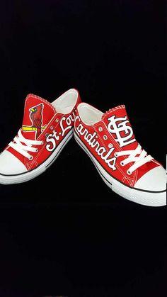 582c1b6721 custom St. Louis CARDINALS men and women hand painted art baseball shoes