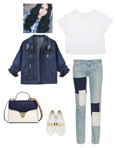 """❤️ blue jean with white"" by marechevaliers on Polyvore featuring moda, Simon Miller, Giuseppe Zanotti y Aspinal of London"