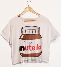 Im a huge fan,although after eating nutella im sure no one wants to see me in a crop top. Not at allnutella crop top.Im a huge fan,although after eating nutella im sure no one wants to see me in a crop top. Cropped Tops, Cute Crop Tops, Tween Fashion, Cute Fashion, Fashion Women, Fashion Brand, Style Fashion, Crop Shirt, T Shirt