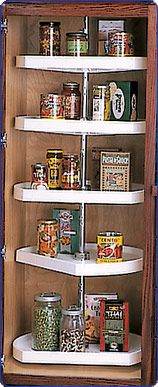 Polymer DShaped Lazy Susan For Tall Pantry Cabinets by Knape