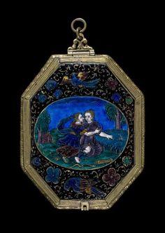 Diana and Callisto    Maker(s):  Limosin, François I; maker; probably  Limosin, Jean (signed Jehan) I; maker; perhaps; b. c. 1580; d. 3 May 1646