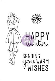 Julie Nutting Doll Cling Stamp - Warm Wishes Set