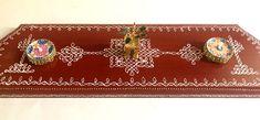 Rangoli Kolam Designs, Kolam Rangoli, Diwali Lamps, Art Decor, Room Decor, Pooja Room Design, Muggulu Design, Ethnic Home Decor, Henna Party