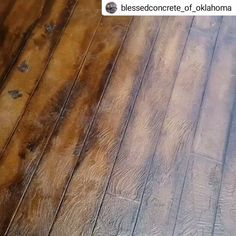 Wood Plank Flooring For Your Home! Blessed Concrete got the job done in this short video of a recent concrete wood plank flooring project featuring DCI Concrete Overlay, Acid Stains, Concrete Dye and High Gloss Sealer! Click to see more concrete wood ideas for indoor and outdoor projects!