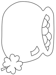 Coloring Pages Clover Leaf March Crafts, St Patrick's Day Crafts, Daycare Crafts, Classroom Crafts, Rock Crafts, Spring Crafts, Preschool Crafts, Holiday Crafts, Classroom Ideas