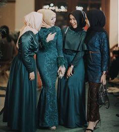 Photo by - - Hijab Gown, Hijab Evening Dress, Hijab Dress Party, Hijab Style Dress, Muslim Wedding Dresses, Muslim Dress, Kebaya Modern Hijab, Kebaya Hijab, Kebaya Muslim