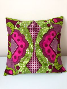 "20"" x 20"" African Wax Print Pillow Cover  on Etsy, £41.00"