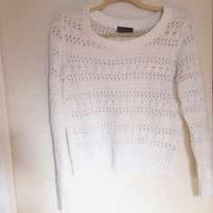 Comfy Sweater Says size L but fits like a small/medium if you like it baggy! Super cute and nothing wrong with it at all! Just grew out of it! Takeout Sweaters