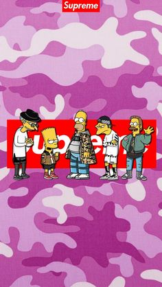 Supreme the Simpson Bape Wallpaper Iphone, Supreme Iphone Wallpaper, Simpson Wallpaper Iphone, I Wallpaper, Wallpaper Backgrounds, Bape Wallpapers, Graffiti, Anime One Piece, Simpsons Art