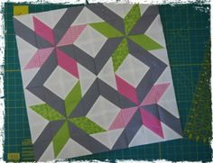 Fun pinwheel-esque block by Nicole of Snips Snippets.