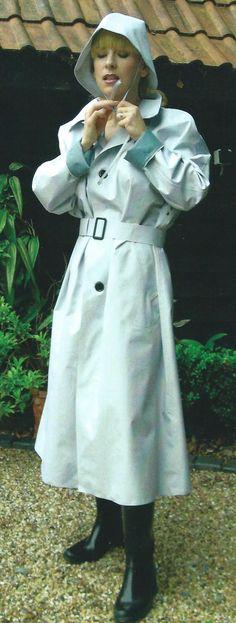 Girls Wear, Women Wear, Rain Cape, Rubber Raincoats, Pvc Raincoat, Wearing A Hat, Raincoats For Women, Rain Wear, Tweed Jacket
