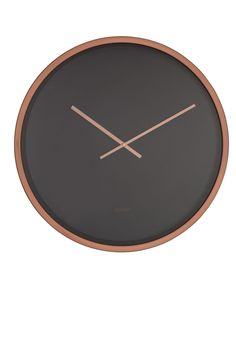 Minimalist Wall Clocks, Antique Wall Clocks, Modern Contemporary Homes, Wall Clock Design, Copper And Brass, Black Walls, Minimalist Design, Home Deco, In This World