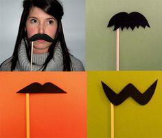 Mustache on a stick - Cute idea for a few impromtu photos during a fun family session! :)