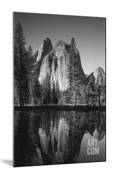 View of Valley's Sheer Rock with Pond, Yosemite National Park, California, USA Photographic Print by Paul Souders at Art.com