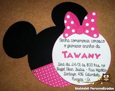 Convite Cabeça Minnie