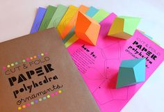 Paper Party | Blog | DIY Geometric Paper Ornaments in the shop today