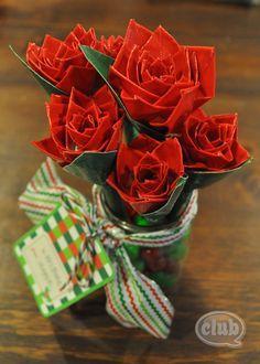 Como hacer un bouquet floral con cinta adhesiva