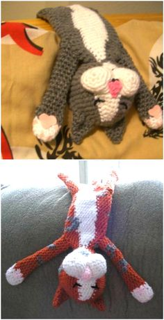 Cat Crochet Patterns Amigurumi Holidays Plus Gato Crochet, Kawaii Crochet, Crochet Cat Pattern, Crochet Patterns Amigurumi, Crochet Yarn, Knitting Patterns, Yarn Projects, Crochet Projects, Stuffed Animal Patterns