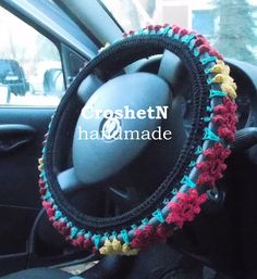 Black multicolor car cover Car Accessories Car Gift Crochet Wheel Cover Car Decor Wheel Cover for car Wheel cover Steering wheel cover Ford, Cute Cars, Car Covers, Wheel Cover, Crochet Gifts, Color Card, Car Accessories, Green And Gold, Happy Shopping