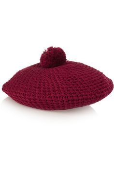 845899fac427a Gucci - Crocheted Cotton Beret - Claret - one size
