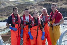 Some of our team out at sea