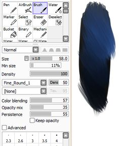 pack 1 - thoughts up north — So! These are the brush settings I use on SAI....