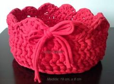 Crochet Bowl, Knit Crochet, Yarn Projects, Crochet Projects, Cotton Cord, T Shirt Yarn, Crochet Accessories, Knitting Stitches, Diy And Crafts