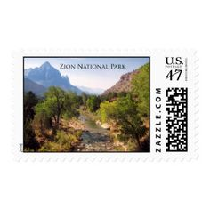 Zion National Park, Utah Stamp