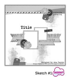 s Scrapbooking Ideas and News: Desafio de Estréia - Sketch by Ana Castro Scrapbook Patterns, Scrapbook Layout Sketches, Scrapbook Templates, Card Sketches, Scrapbook Albums, Scrapbooking Layouts, Scrapbook Cards, Picture Layouts, Sketches Tutorial