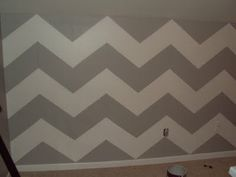 Doing some chevron in the girls' bathroom possibly. Whatever Wednesday: Get Your Chevron On My New Room, My Room, Girl Room, Girls Bedroom, Accent Wall Bedroom, Accent Walls, Faux Painting, Diy Painting, Funky Furniture