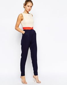 Enlarge Little Mistress Colour Block Jumpsuit