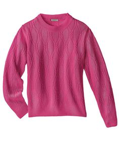 97f760b776c310 Damart Cable Sweater Fuchsia Pink Size UK FF 14 for sale online