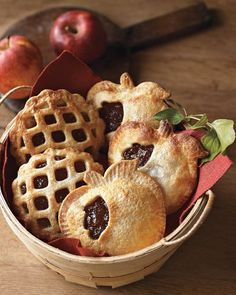 Make cute apple pies that could fit in your pocket.