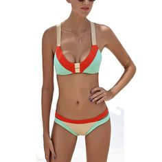 5555f17bd0f3a 2017 Women Sexy Bikini Halter Set Swimwear Bathing Suit Swimsuit Beach Swim  Suit Thong Biquini Push Up Brazilian Beach Wear