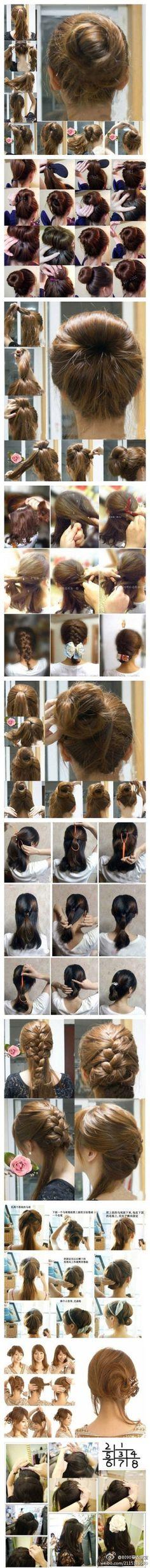 Hair,Hair and more hair My Hairstyle, Bun Hairstyles, Trendy Hairstyles, Good Hair Day, Great Hair, Hair Today, Hair Dos, Gorgeous Hair, Hair Hacks