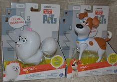 The Secret Life of Pets Walking Talking Action Figures - Gidget and Max Max Toys, Secret Life Of Pets, Cool Toys, The Secret, Things That Bounce, Action Figures, Walking, Cool Stuff, Ebay