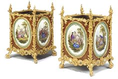 19th century ormolu sevres centerpiece | PAIR OF NAPOLEON III ORMOLU AND SEVRES STYLE TURQUOISE GROUND ...