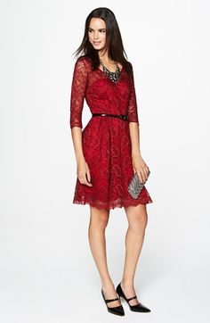 For the red lace Collette Dinnigan worn September 24, 2011 to Tom Sutton/Harriet Colthurst wedding