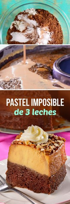 Mejoramos el pastel imposible, ahora con tres leches. Un flan de vainilla y un bizcocho esponjoso de chocolate deliciosos que te dejarán con la boca abierta.