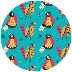 http://www.fabricworm.com/alcobioffebi5.html Allison Cole, Birds of a Feather, Birds Turquoise