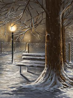 Winter Trilogy 1 by Veronica Minozzi - Winter Trilogy 1 Painting - Winter Trilogy 1 Fine Art Prints and Posters for Sale