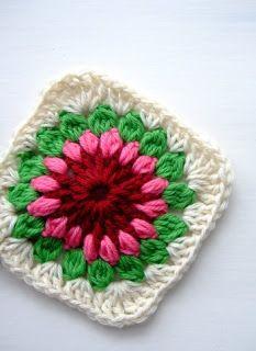 Crochet paso a paso: 1) Cuadrado a crochet Crochet Motif Patterns, Granny Square Crochet Pattern, Square Patterns, Tunisian Crochet, Crochet Squares, Crochet Granny, Irish Crochet, Crochet Designs, Knitting Designs