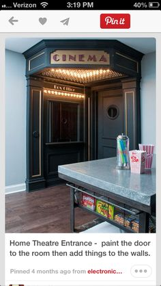 Home Theatre Entrance