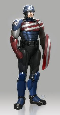 Captain America Redesign by Aman Chaudhary